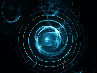 Abstract art background spiral system .
