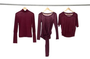 Fashion three clothing rack display