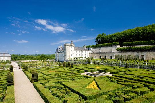 Villandry Castle with garden, Indre-et-Loire, Centre, France