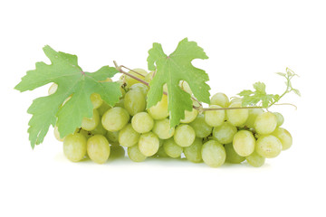 White grapes with leaves