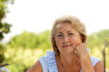 Senior woman portrait outdoor
