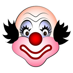 smiling clown vector