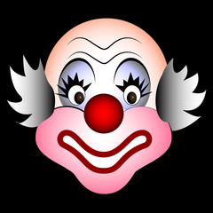 smiling clown vector
