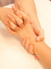 reflexology Hand massage, spa hand treatment,Thailand