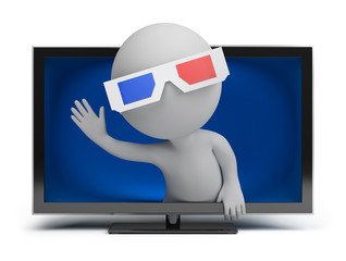 3d small people - 3d TV