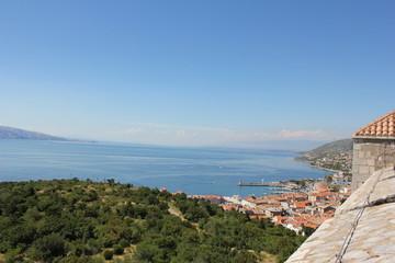 Blick auf Senj und Kvarner Bucht von Nehaj