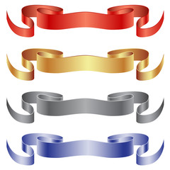 Set of ribbons - flags