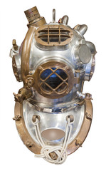 Diving helmet, isolated