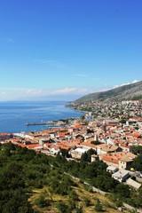 Blick von der Burg Nehaj auf die Stadt Senj - Kroatien