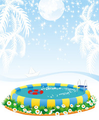outdoor pool and tropical islands