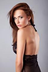 Obraz sexy woman on gray background - fototapety do salonu
