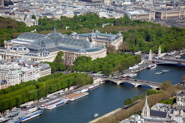 The Grand Palais - aerial view from Eiffel Tower, Paris, France Fototapete