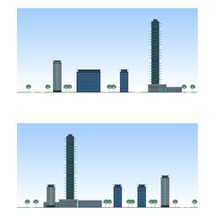 City. Urban section, vector