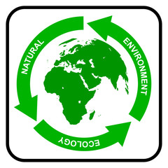 Recycling symbol, vector