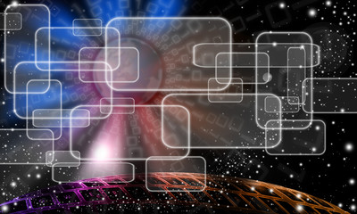 Technologic abstract sky