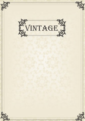 Vintage vector background for book cover or card