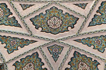 Beautiful mosaic inside of Grand Mosque, Oman
