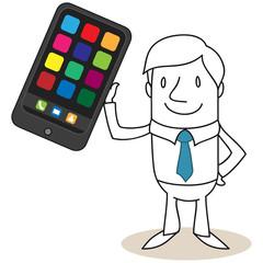Geschäftsmann, Smartphone