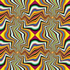 Poster de jardin Psychedelique Spinning background. Abstract background, seamless pattern