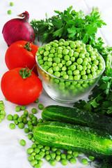 Appetizing fresh vegetables