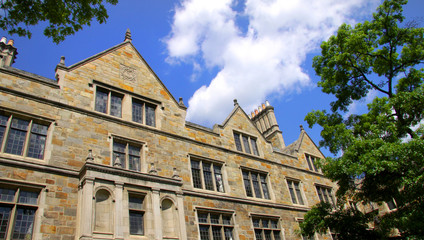 Historic campus building in university of michigan