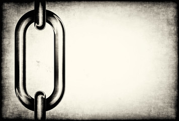 Chain links on a grunge background
