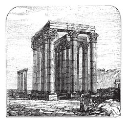 The Temple of Olympian Zeus or  Columns of the Olympian Zeus, Gr