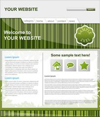 vector editable website template