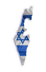 Drapeau carte israélien