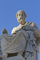Fototapete - statue of Plato from the Academy of Athens,Greece