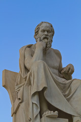Fototapete - statue of socrates from the Academy of Athens,Greece