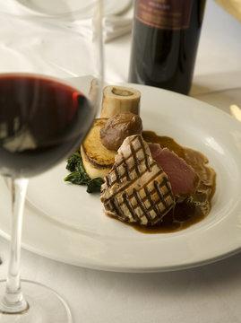 Seared Tuna steak wine pairing