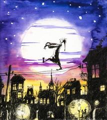 Sleepwalking-watercolors