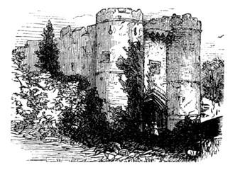 Carisbrooke castle, Isle of Wight, United Kingdom (England) vint