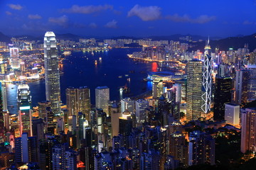 Deurstickers Hong-Kong Hong Kong at dusk