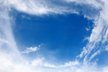 Sky with cloud frame