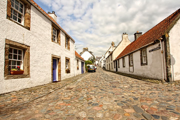 Old streets and houses in Culross , Fife, Scotland