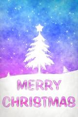blue pink christmas