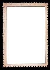 Blank stamp, black borde
