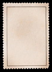 Blank stamp, black borde