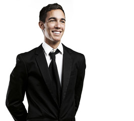 young man smiling