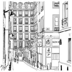 Printed roller blinds Art Studio street near Montmartre in Paris