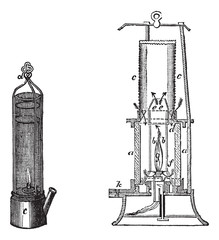 Fig 1.Davy safety lamp Fig 2. Safety lamp of Mackworth vintage e