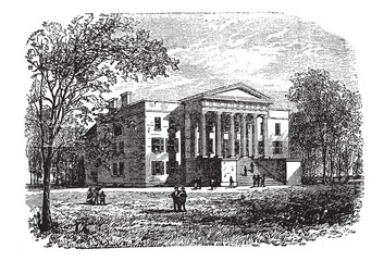 College of Arts, University of Kentucky, Lexington, vintage engr