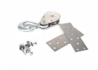 Hook, screw, plates
