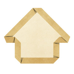 House origami recycled papercraft