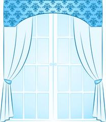 The vintage curtain