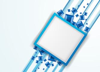 синяя рамка с принтом