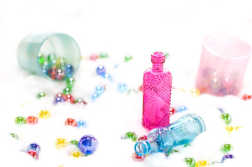 ガラス瓶とビー玉
