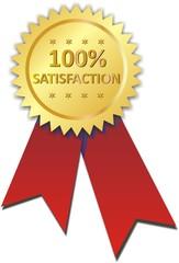 étiquette 100% satisfaction